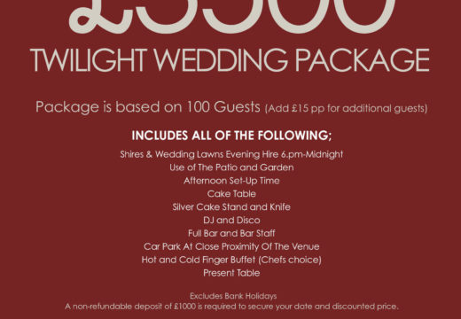 Twilight Wedding Offer