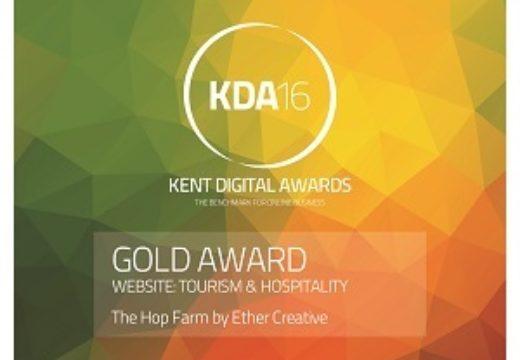 Hop Farm Website Wins Gold Award
